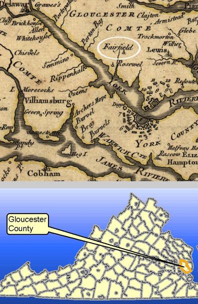 Gloucester Virginia Map.Fairfield Plantation Gloucester Co Slideshow Dhr