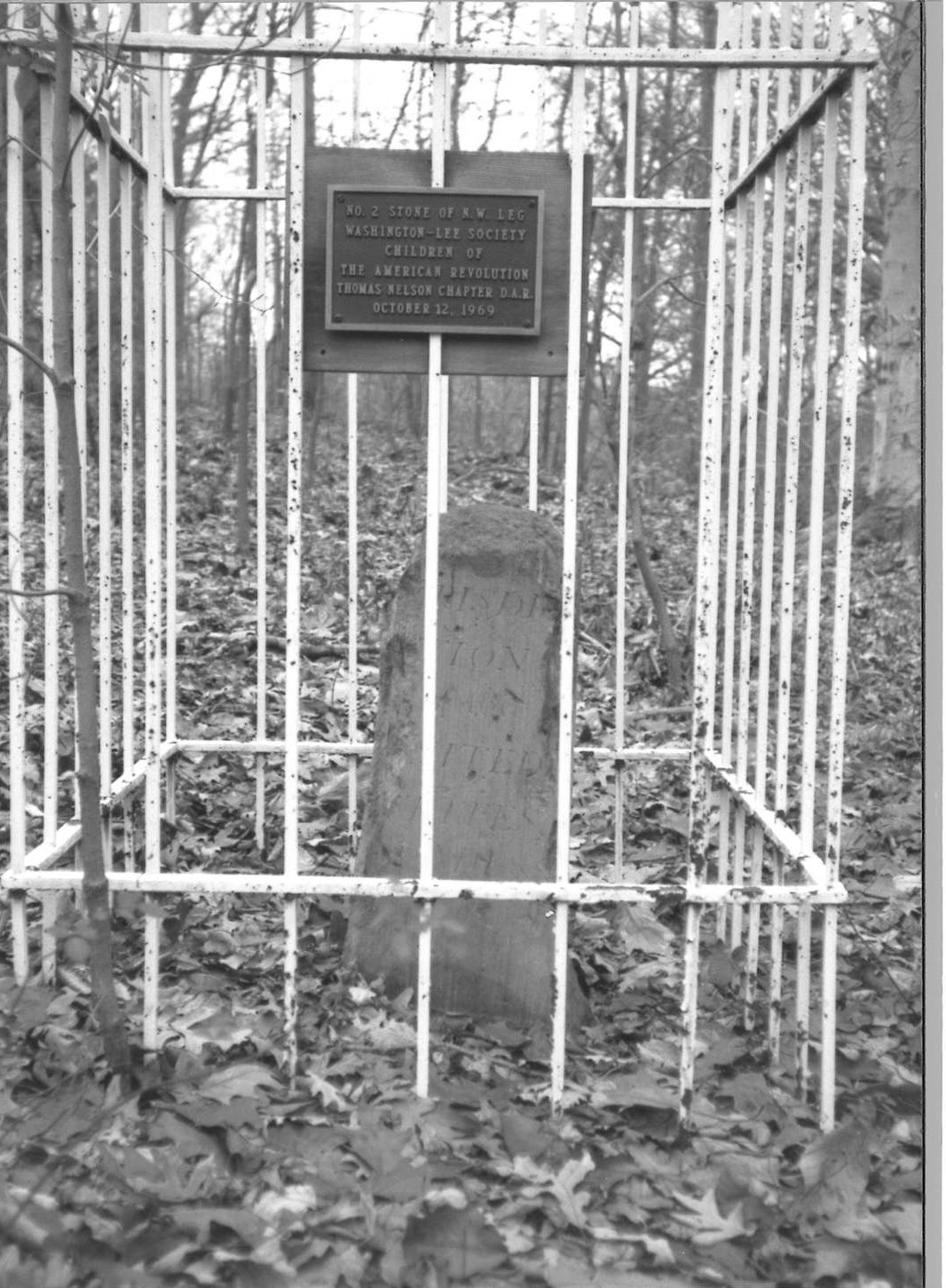 Northwest No. 2 Boundary Marker