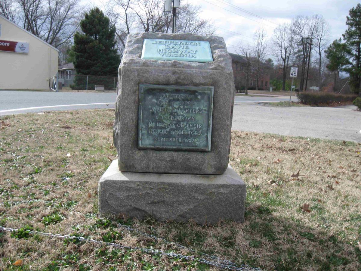 Ashland Jefferson Davis UDC Highway Marker