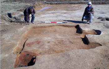 Stafford County excavation with archaeologists
