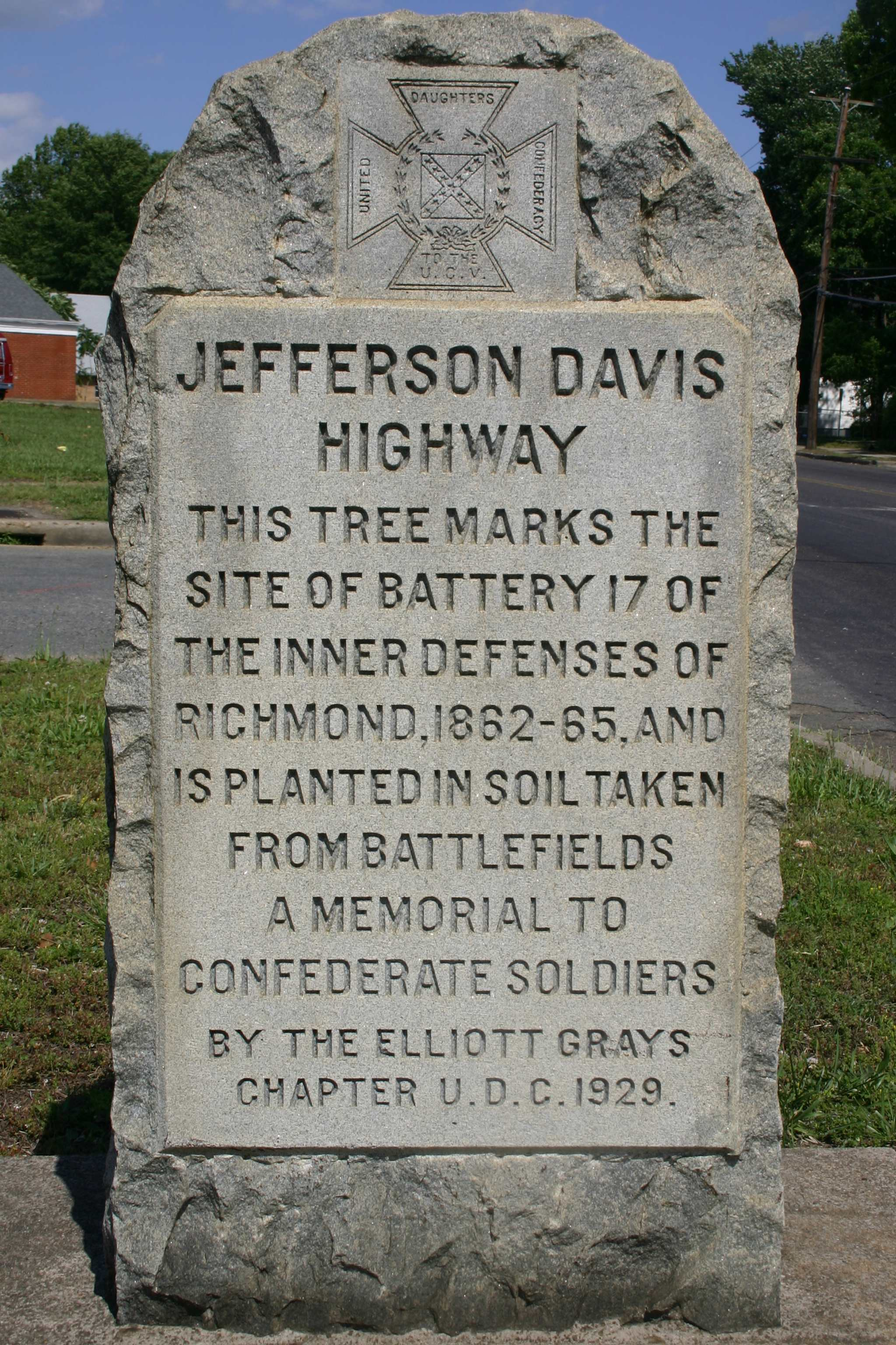 UDC Commemorative Highway Markers along the Jefferson Davis Highway in Virginia MPD