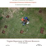 Poster of Virginia Archaeology Month 2017