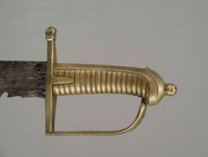 Photo of the hilt of the sabre.