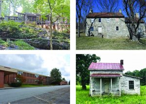 Photos of four properties discussed at the Sept. 20 meeting of DHR's two boards.