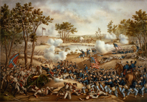 Kurz & Allison illustration of the Battle of Cold Harbor (Library of Congress)
