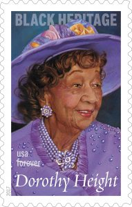 US postage stamp honoring Dorothy I. Height