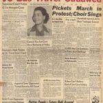 Newspaper Washington Afro-American headlines Morgan v. Virginia decision