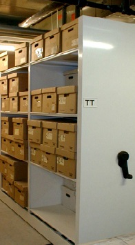 """Artifacts are cared for much like books at a library. The provenience of each artifact is retained by placing the labeled artifacts into acid-free resealable-zipper plastic bags and then into acid-free boxes. All bags and boxes are labeled with site, provenience, and artifact information. The boxes are stored on shelves in a climate-controlled environment. Box content information is entered into a database so that collections and artifacts can be retrieved and returned easily. Click the """"Dig Deeper"""" icon for some images."""