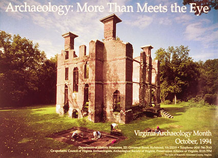 Archaeology-month poster 1994: Rosewell