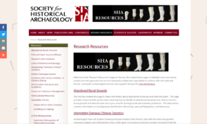 Society for Historical Archaeology (SHA)