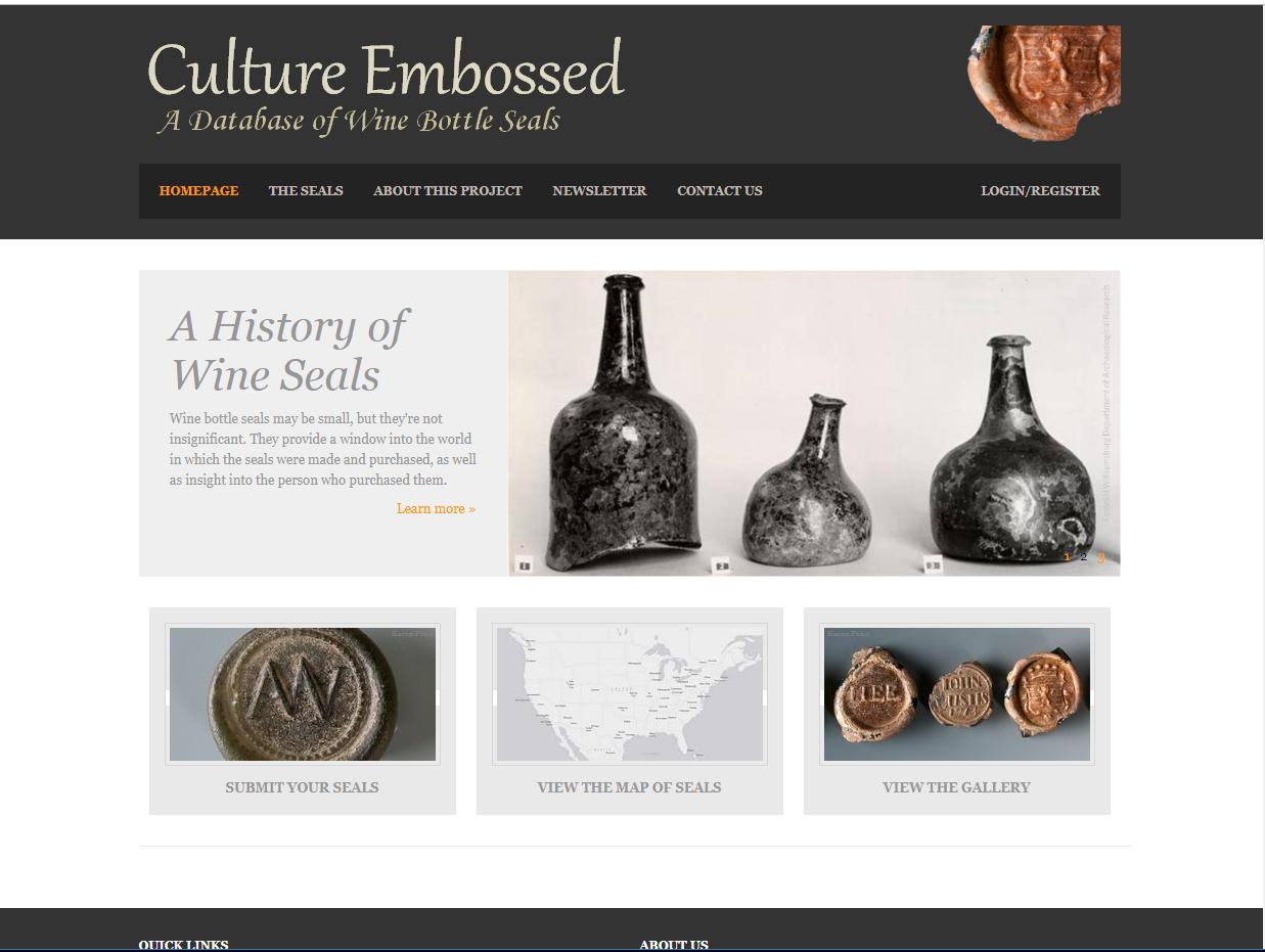 culture embossed website