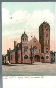Vintage postcard shows Court Street Baptist Church