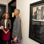 Adele Johnson, Executive Director of the Black History Museum, with Gov. Northam and First Lady Pamela Northam.