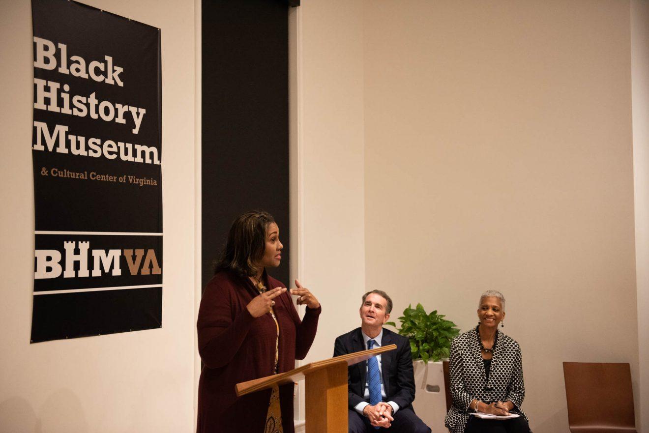 Dr. Colita N. Fairfax speaking to the crowd.