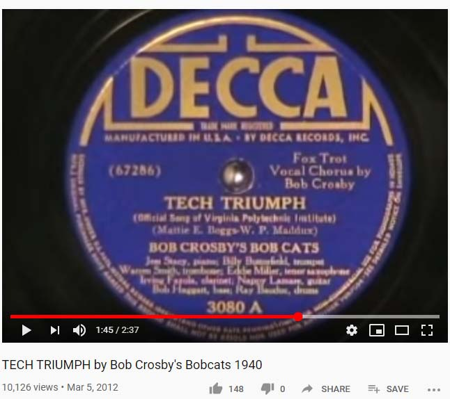 Shows label of 78 rpm record.