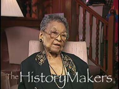 Screenshot of video interview of Pauline C. Morton