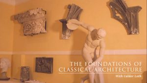 """Screenshot from video, """"Foundations of Classical Architecture"""""""