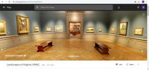 Screenshot of virtual tour at VMHC