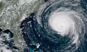 Satellite image of Hurricane Florence in September 2018