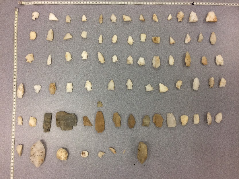 Three sherds with decorative patterns.