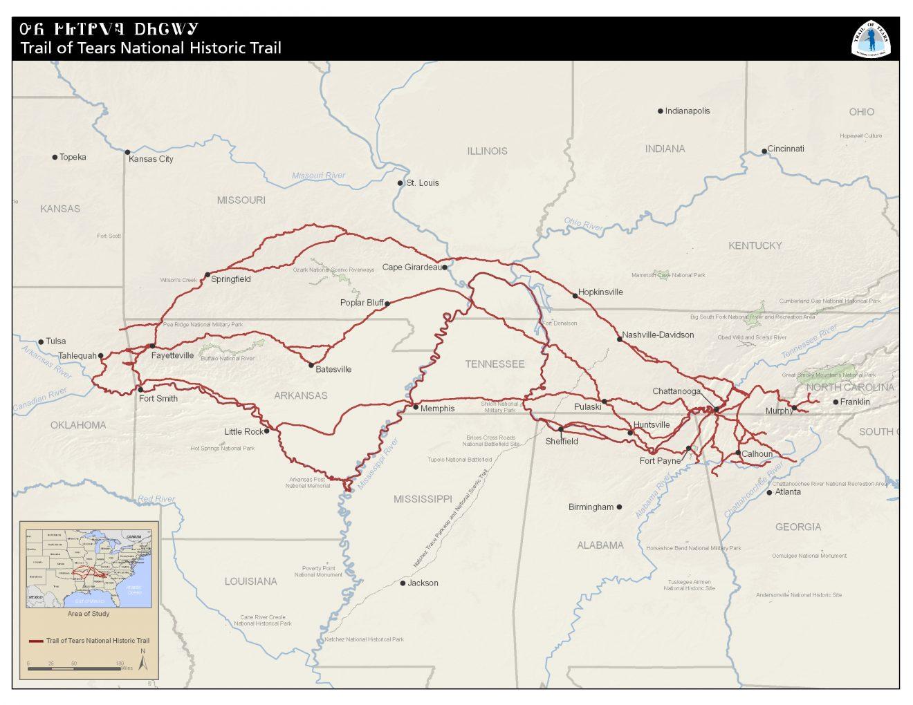 trail of tear USDA