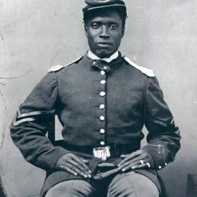 UUnidentified USCT soldier.