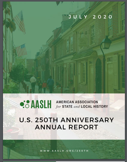 AASLH Report on 250th Anniversary cover