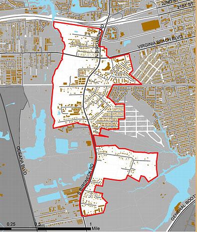 Seatack neighborhood VB map