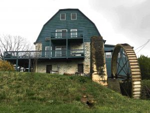 Stone-Keller Mill in village of Fisher's Hill, part of the battlefield in Shenandoah County.