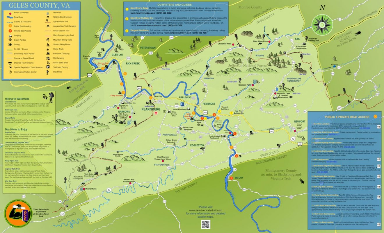 New River Water Trail Map