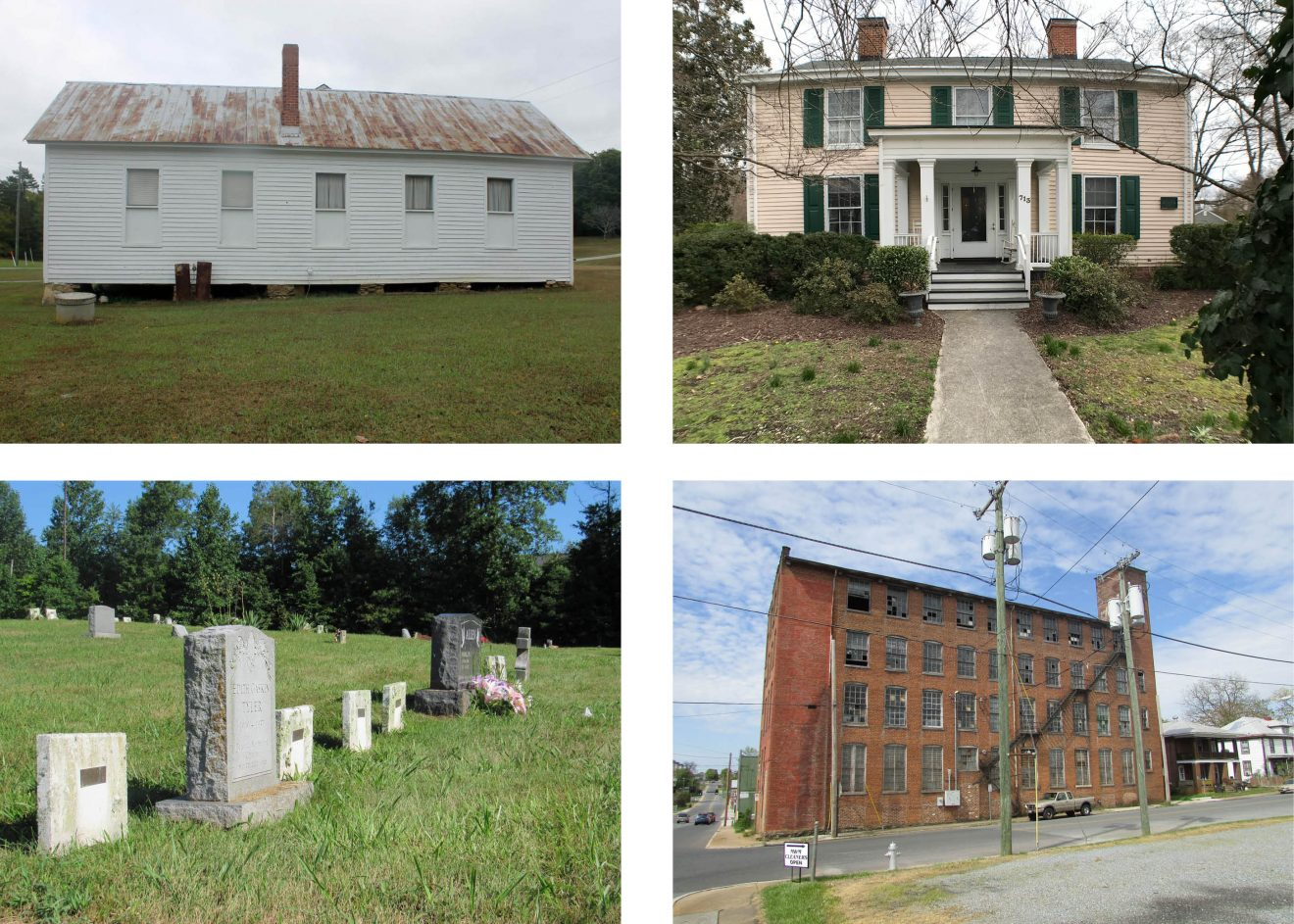 Shows four thumbnail photos of properties nominated