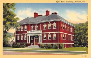 Syms-Eaton Academy in Hampton. (See Syms Free School marker text below.)