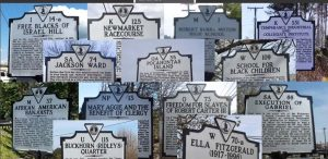 Montage of historical markers