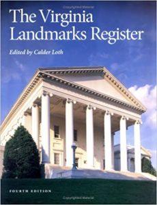 Cover of The Virginia Landmarks Register book.