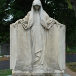 FIGURES: Mourning figures are almost universally female. Draping and veils are emphasized in keeping with Victorian mourning traditions.