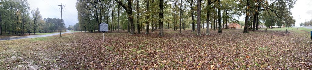 A panoramic view of the Unmarked Cemetery, October 2020.
