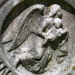 Angel with child.