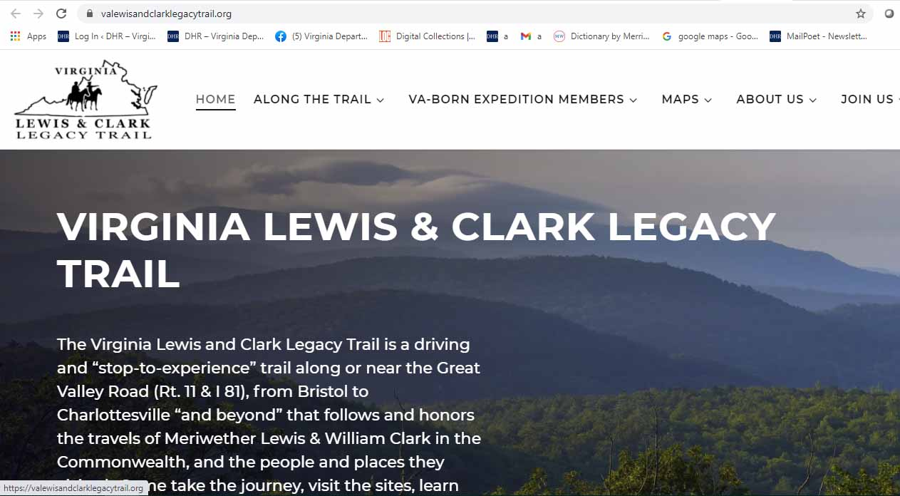 Lewis and clark leg trail website