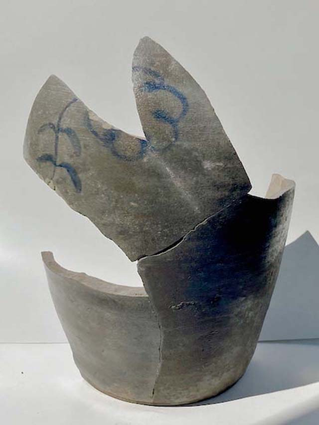 Sherds assembled into vessel