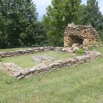 Ruins delineating a slave quarters