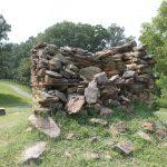 Deteriorating stone chimney