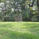 cornerstone pillar at the burial ground