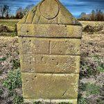 Inscribed grave marker