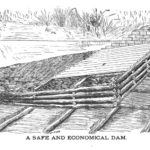 Illustration of a crib dam